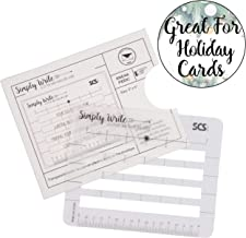 Lettering Envelope Addressing Stencil - Template Ruler Guide for Perfectly Straight Addressing- Fits All Sizes (1 Pack) - Great for Christmas Cards