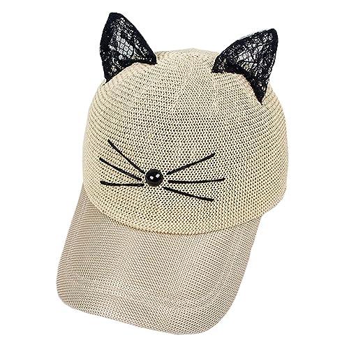 Coolwife Women s Sport Cap Baseball Golf Cat Ear Adjustable Hip Hop Sun Hat 223b73eebd3a