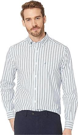 Long Sleeve Blue Stripe Shirt