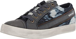 Diesel Men's D-Velows D-String Low Sneaker, Blue Iris/Anthracite, 9.5 M US