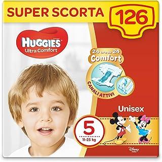 Huggies Ultra Comfort luiers, maat 5 (11-25 kg), 126 stuks