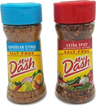 Mrs. Dash No Salt Seasoning Extra Spicy and Caribbean Citrus Variety Bundle (1 each 2.5 ounce bottle)