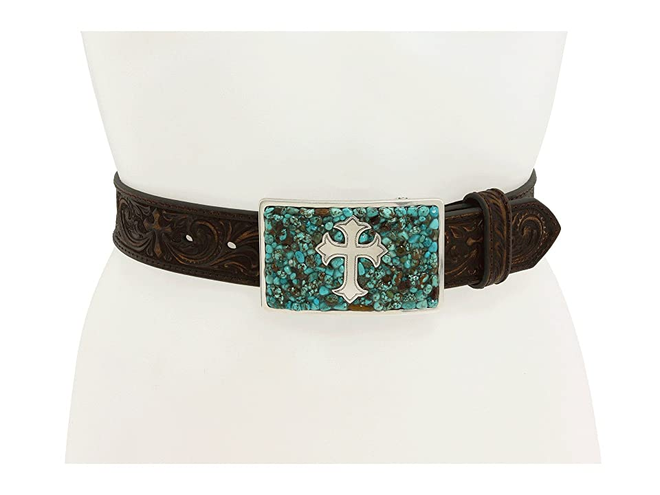 M&F Western Turquoise Stone Cross (Turquoise/Brown) Women