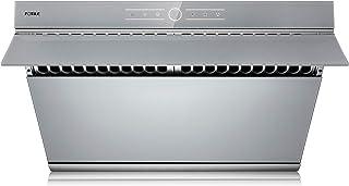 "FOTILE JQG7501.G 30"" Range Hood | Unique Side-Draft Design for Under Cabinet or Wall Mount | Modern Kitchen Vent Hood | Powerful Motor | LED Lights | Silver Grey Tempered Glass Surface"