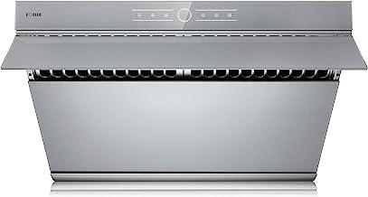 FOTILE JQG7501.G 30″ Range Hood | Unique Side-Draft Design for Under Cabinet or Wall Mount | Modern Kitchen Vent Hood | Powerful Motor | LED Lights | Silver Grey Tempered Glass Surface