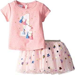 Mud Pie Baby Girl's One Birthday Skirt Set (Infant)