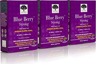 Blue Berry Eyebright, 60 Tabs by New Nordic US Inc (Pack of 3)