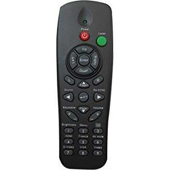 Replacement Remote for OPTOMA W313 W306ST W311 X301 X305ST W401 X303 W501 Projector Black