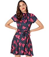 1960s Style Floral Print Bancroft Fit-and-Flare Dress