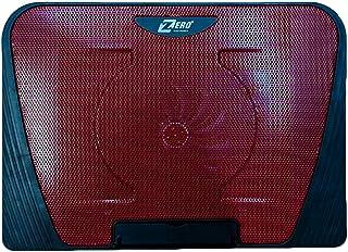 ZR 550 زيرو منصة تبريد لاجهزة اللاب توب مزودة بمروحة صامتة وبمنفذين يو اس بي، لاجهزة اللاب توب واجهزة نوت بوك - احمر