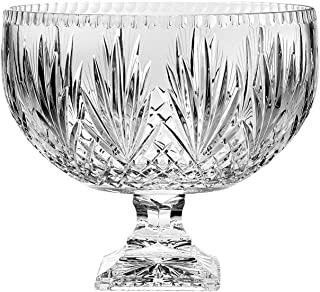 Barski - European Crystal - Handmade - Large Centerpiece Footed Bowl -Punch Bowl - 12