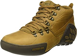 Woodland Men's Camel Leather Sneakers-8 UK/India (42)(GC 1869115_Camel_8)
