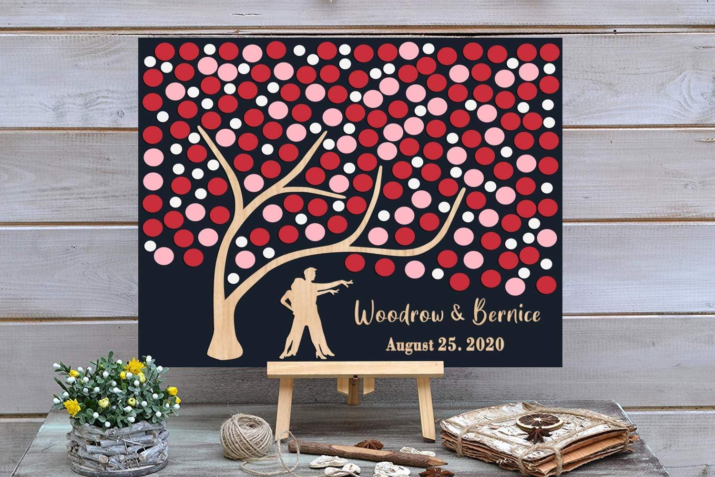 PotteLove 3D Love OFFicial shop Tree Limited time sale Wedding Guest C Alternative Book - Custom
