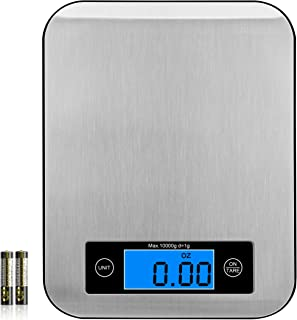 EDELIN Food Scale, Digital Kitchen Weight 1 Grams and 0.1 Ounces for Baking and Cooking, Small, Stainless Steel Digital Sc...