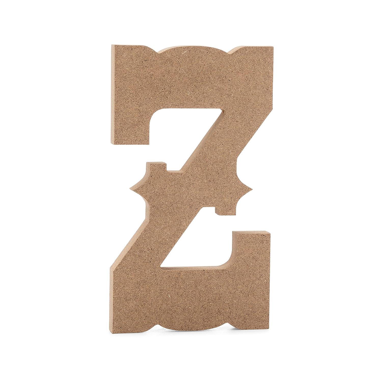 6 Western Wooden Letter V Premium MDF Wood Wall Letters 6 inch, V