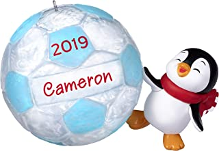 Hallmark Keepsake Christmas 2019 Year Dated Soccer Star Penguin DIY Personalized Ornament