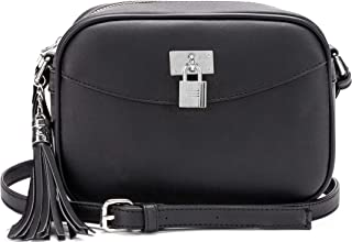 Lola Mae Fashion Crossbody Bag, Trendy Padlock Tassel Design, Adjustable Strap Shoulder Purse