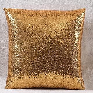 40 x 40 cm mit Rei/ßverschluss gold /Überwurf-Kissenbezug /Überwurf-Kissenbezug mit Kissenbezug mit Sequins ANYIKE Sportschuhe solide