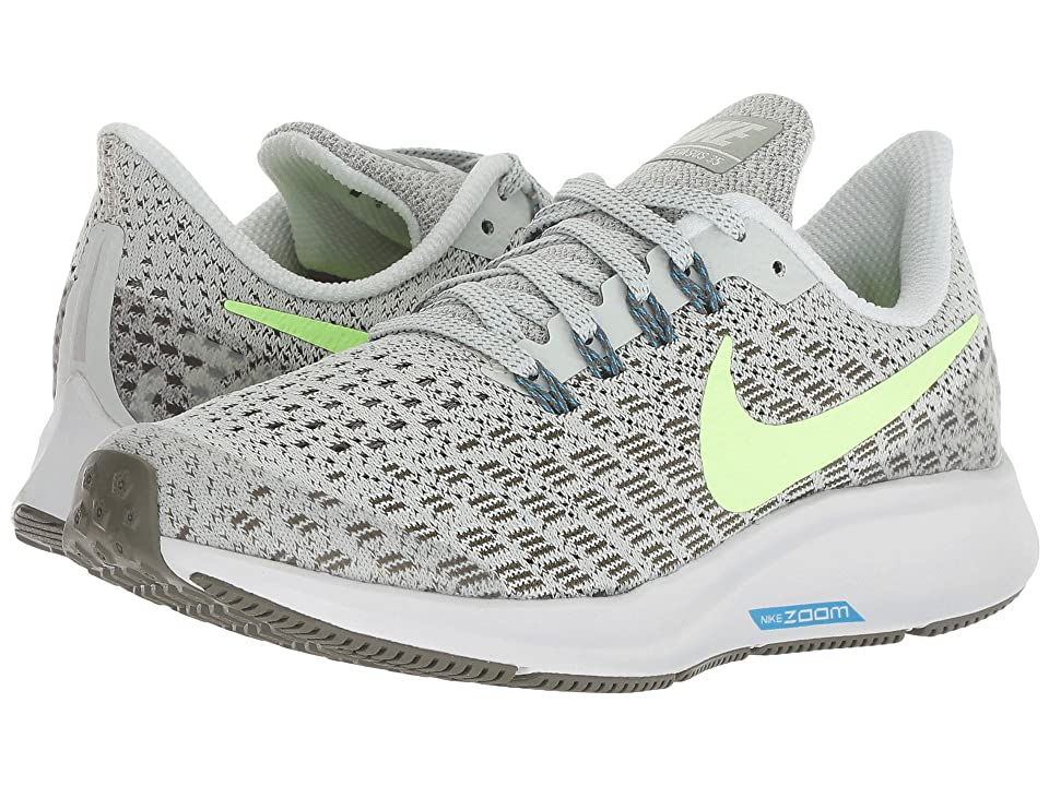 Nike Kids Air Zoom Pegasus 35 (Little Kid/Big Kid) (Light Silver/Lime Blast/Twilight Marsh) Boys Shoes