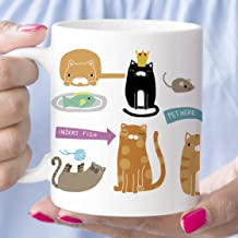 Cats Coffee Mug Funny Gift Microwave Dishwasher Safe Ceramic Cup