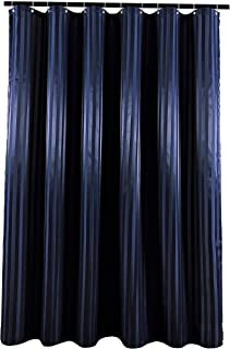 Biscaynebay Fabric Shower Curtains, Water Repellent Damsk Stripes Bathroom Curtains, Navy 72 Inch Width by 84 Inch Height,...