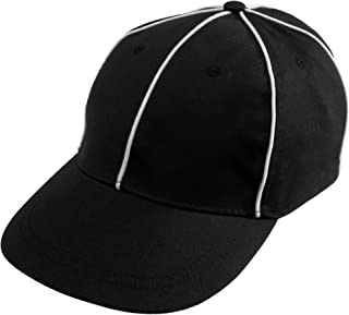 Crown Sporting Goods Official Referee Hat - Adjustable Black with White Stripes Ball Cap - Great for Football Refs, Umpires, Judges, Linesman