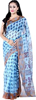 Chandrakala's Women's Pure Supernet Cotton Banarasi Saree (9590-P)