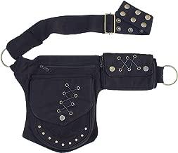 Practical Fannypack Cotton Waistbag Travel Utility Travel Belt-Black-One Size
