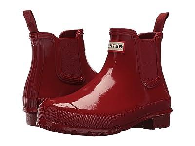 Hunter Original Chelsea Boots Gloss (Military Red) Women