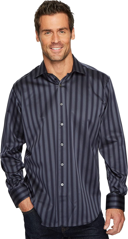 Bugatchi Men's Long Sleeve Classic Fit Shirt