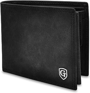 GenTo® Brooklyn Protección RFID y NFC - Billetera de Hombre con Compartimento para Monedas - Cartera espaciosa - Cartera d...