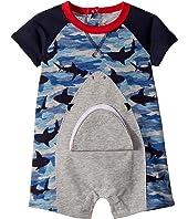 Camo Shark Raglan One-Piece (Infant)