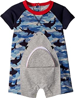 Camo Shark Raglan One-Piece (Infant)