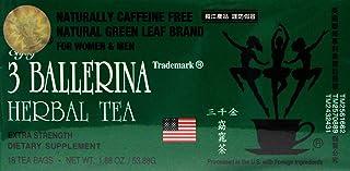 3 Ballerina Herbal slim tea Extra Strength Dietary supplement 18 tea bags (pack of 3)