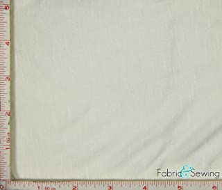 Cream Beige Knit Slub Jersey Fabric 2 Way Stretch Rayon Slub 6 Oz 58-60