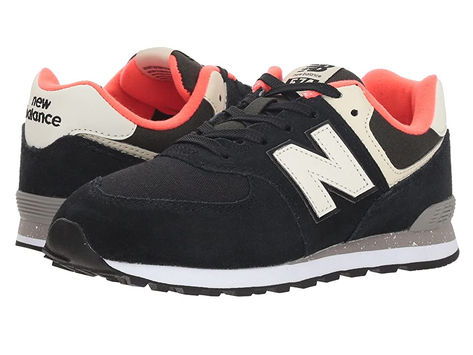 New Balance Kids GC574v1 (Big Kid) (Black/Flame) Boys Shoes