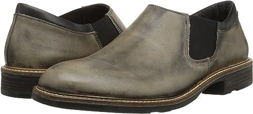 Vintage Gray Leather/Jet Black Leather
