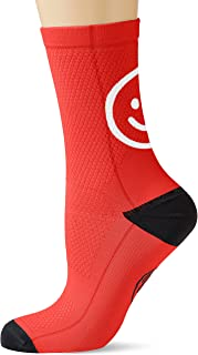 Socks Smile Red S/M, Unisex Adulto, Rojo, Medio