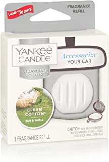 Yankee Candle Company Yankee Candle Fragrance Spheres Clean Cotton, Flameless, Clear, White, Charming Scents Refill