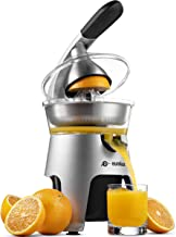 Eurolux Die Cast Stainless Steel Electric Citrus Juicer Squeezer, for Orange, Lemon, Grapefruit | 300 Watts of Power, With...