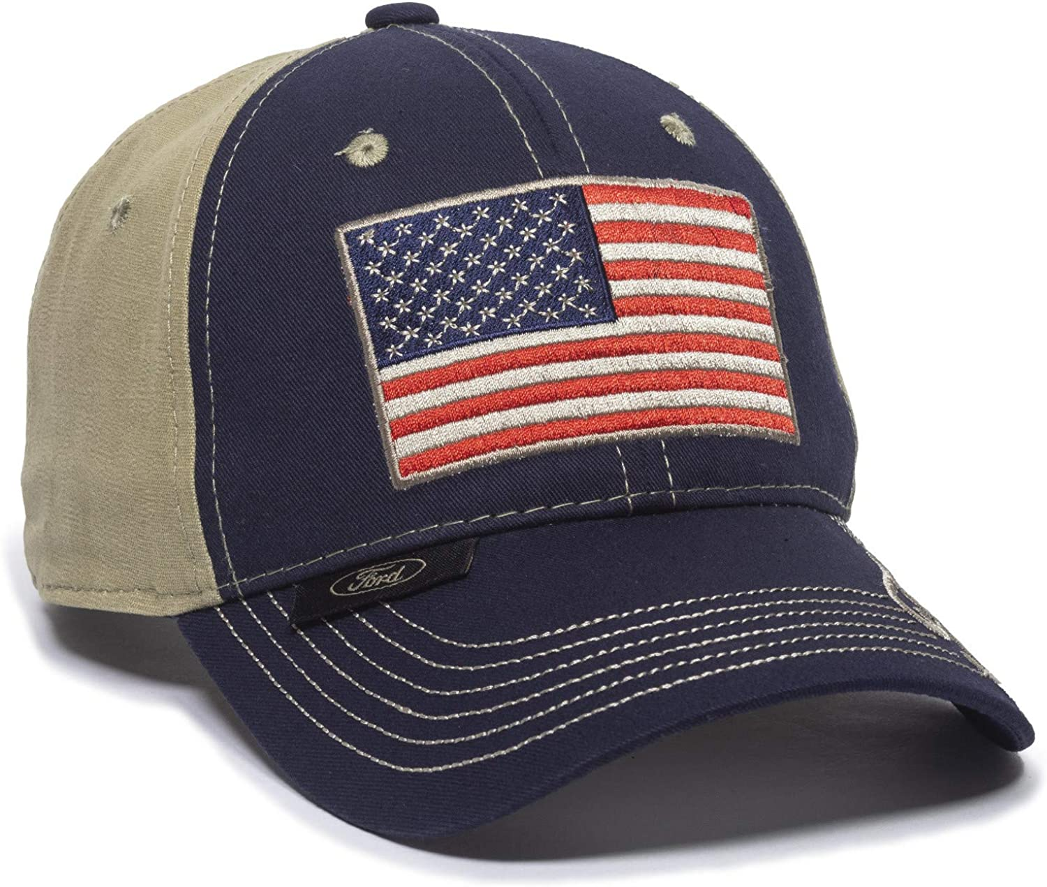 Outdoor Cap FRD10A, Navy/Khaki, One Size Fits Most
