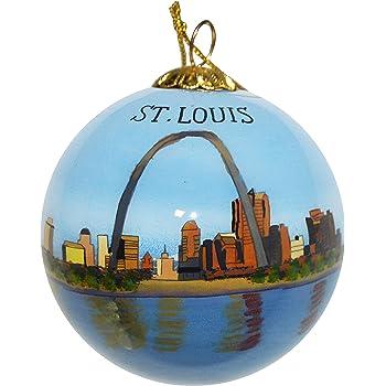 St Louis Christmas ORNAMENT Gateway Arch Missouri City State Travel Souvenir Gift