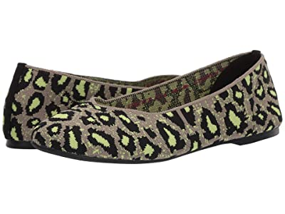 SKECHERS Cleo Claw-Some (Taupe/Lime) Women