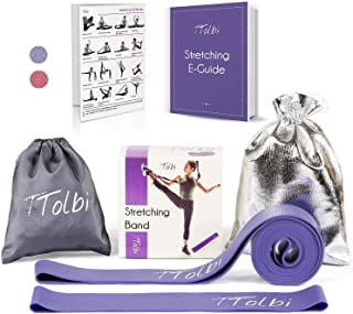 Stretch Bands for Dancers, Ballerinas and Gymnasts | Dance Stretch Bands for Flexibility, Mobility and Strength | Shiny Bag, Travel Bag, Printed Stretches and Stretching E-Guide