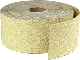 POWERTEC 4RA1115 Premium Gold 2-3/4 Sandpaper Rolls   Sticky Back Adhesive – 150 Grit