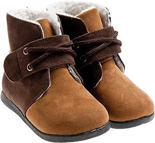 2154e54d950ff Little Blue Lamb Chaussures Bottes Bottes fourrées Beige Marron