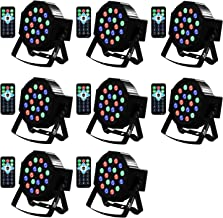 Uplights 18 RGB Led UpLights, Missyee Sound Activated DMX Uplighting, LED Par Can Lights with Remote Control, DJ Uplighting Package for Wedding Birthday Home Party (8 pcs)