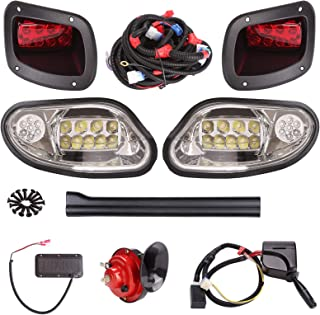10L0L Golf Cart LED Light Kit for EZGO TXT Freedom/t48 2014-up (Gas & Electric) with Universal Deluxe Light Upgrade Kit, with Turn Signals Switch Horn Brake Lights Harness