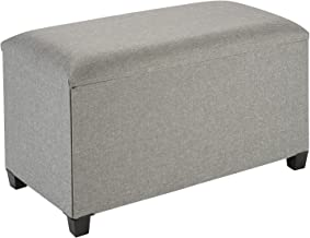 Fresh Home Elements Tray Coffee Table Ottoman with Storage Grey
