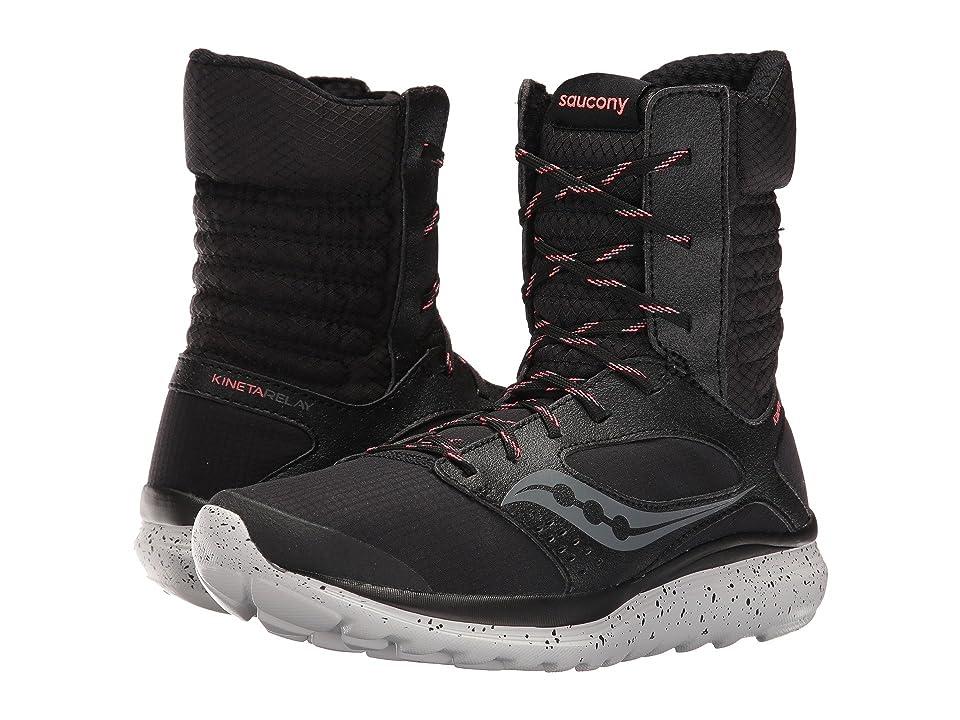 Saucony Kineta Boot (Black/Coral) Women